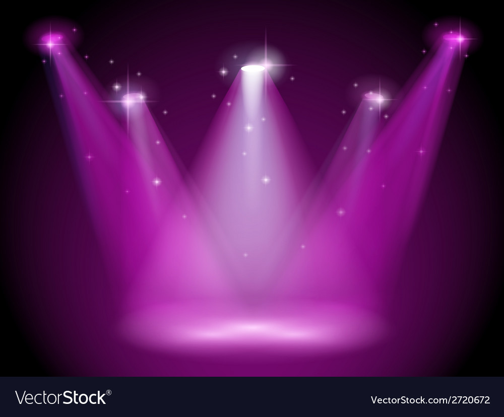 A purple stage vector | Price: 1 Credit (USD $1)