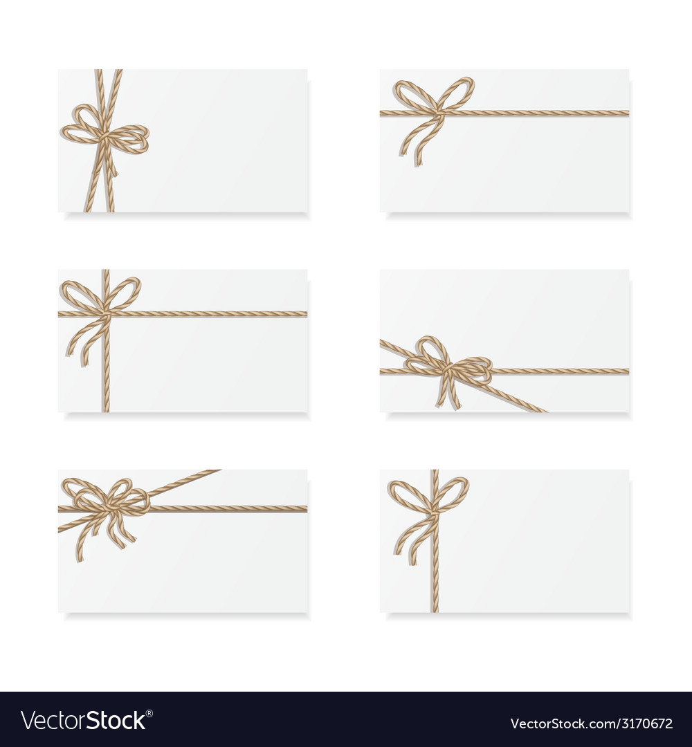 Card notes with gift bows vector | Price: 1 Credit (USD $1)