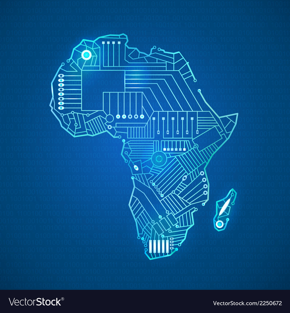 Continent of africa vector | Price: 1 Credit (USD $1)