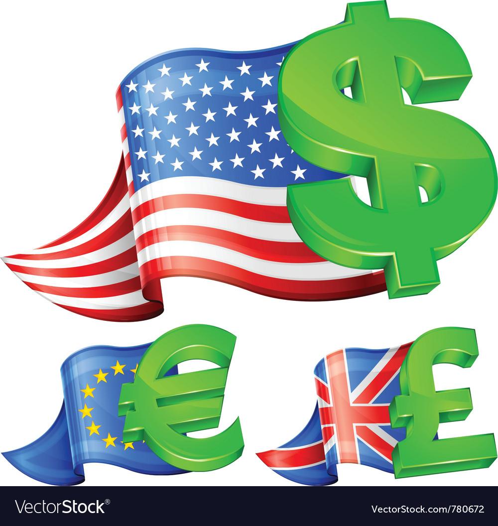 Currency symbols vector | Price: 3 Credit (USD $3)
