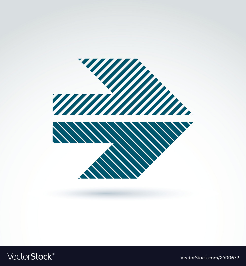 Geometric abstract symbol with arrow graphic vector | Price: 1 Credit (USD $1)