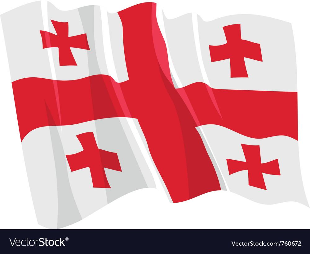 Political waving flag of georgia vector | Price: 1 Credit (USD $1)