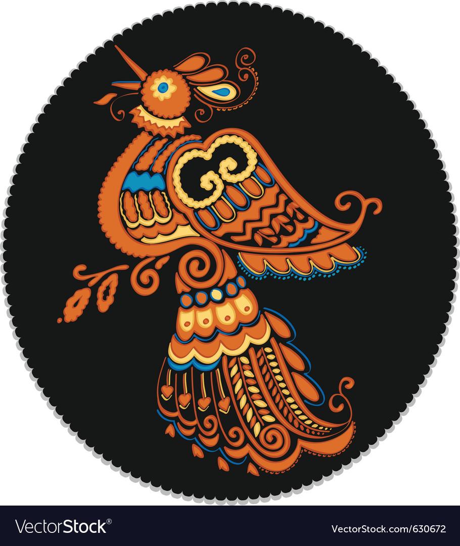 Russian culture phoenix vector | Price: 1 Credit (USD $1)