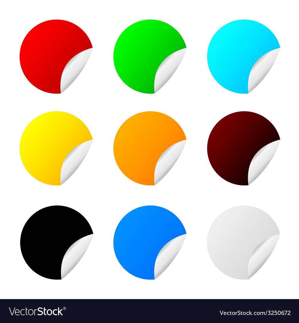 Sticker set color vector | Price: 1 Credit (USD $1)