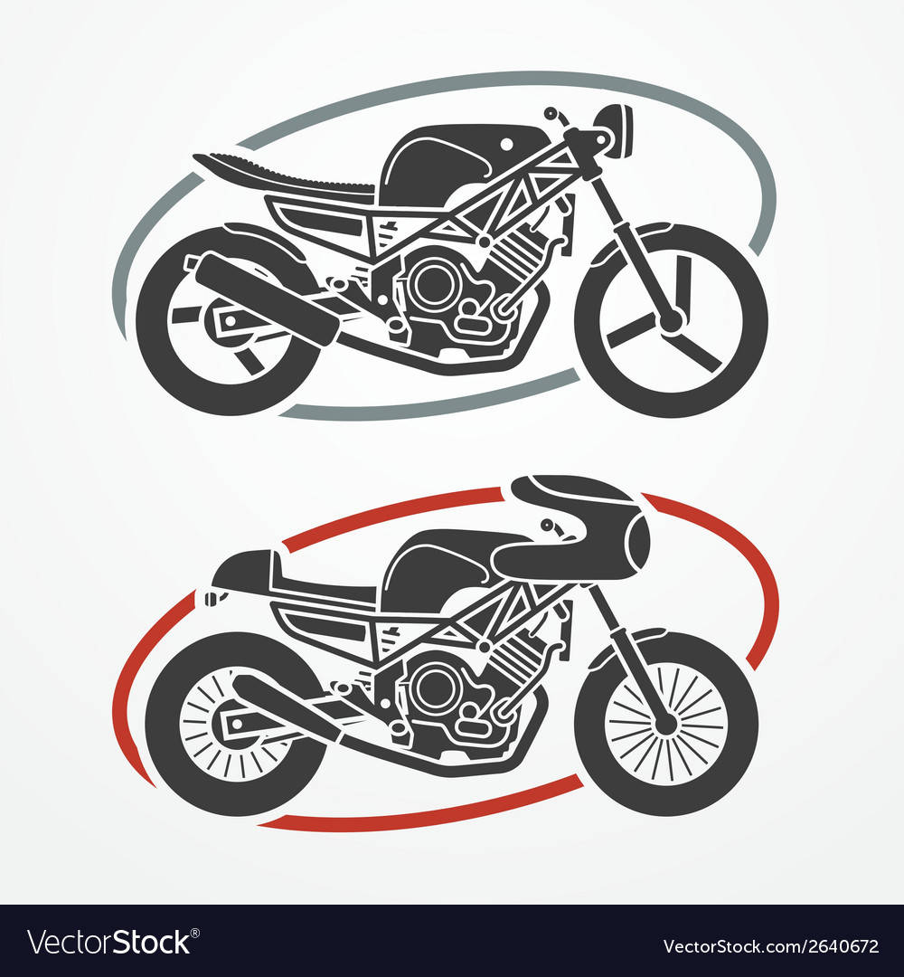 Two motorcycles vector | Price: 1 Credit (USD $1)