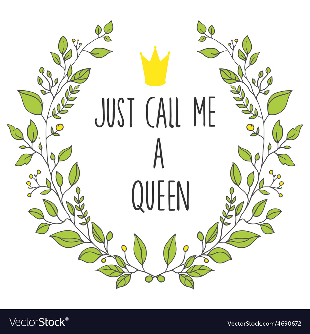 Wreath queen vector | Price: 1 Credit (USD $1)
