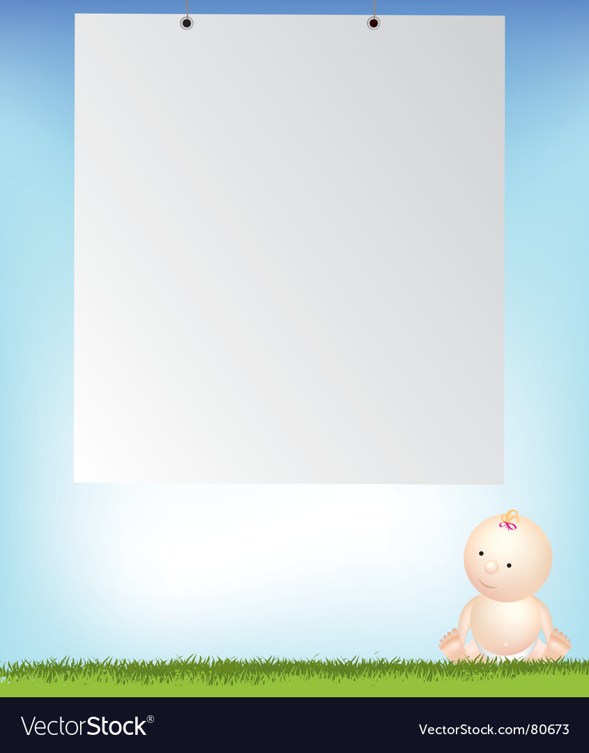 Baby and empty notice vector | Price: 1 Credit (USD $1)