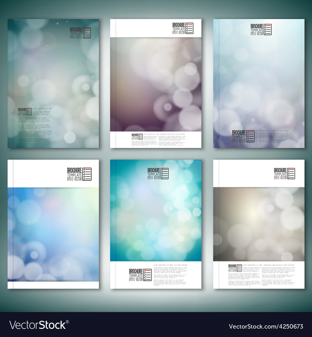 Blurry backgrounds with bokeh effect brochure vector | Price: 1 Credit (USD $1)