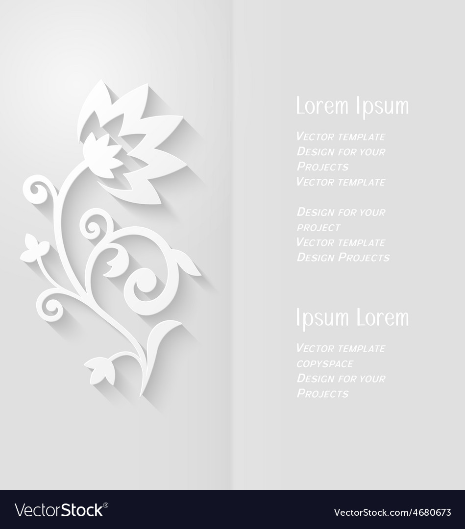 Brochure design with abstract paper flower vector | Price: 1 Credit (USD $1)
