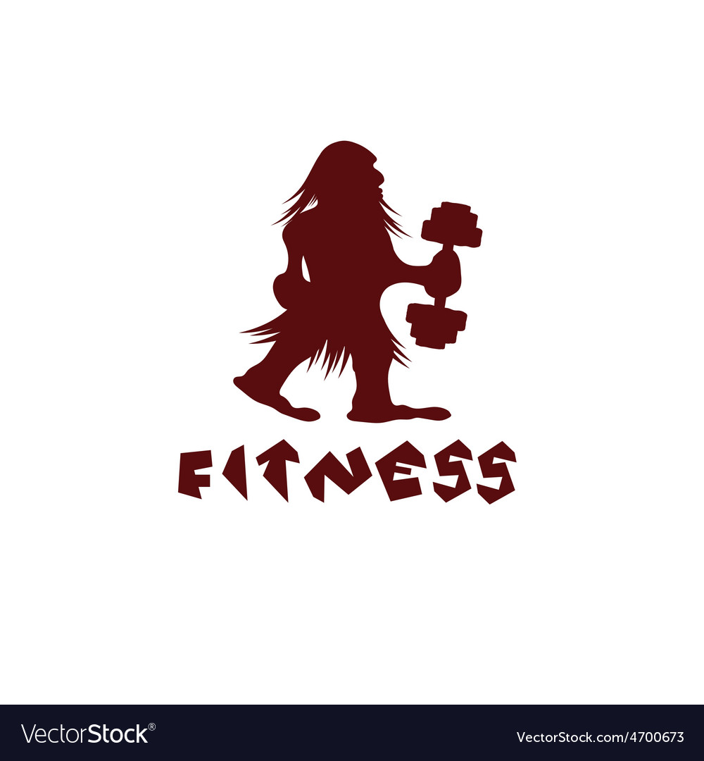 Fitness caveman design template vector