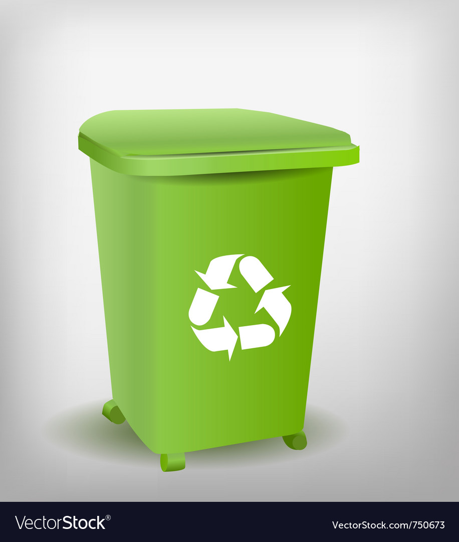 Green recycle bin vector | Price: 1 Credit (USD $1)