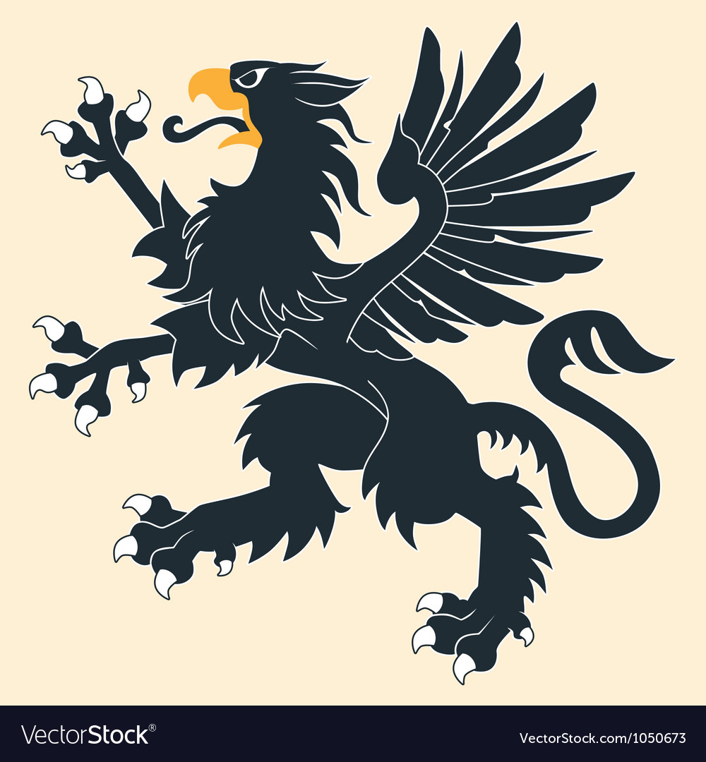 Heraldic griffin5 vector | Price: 1 Credit (USD $1)