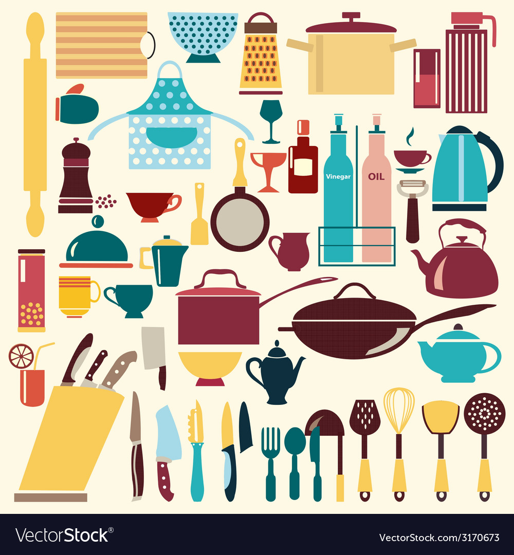 Kitchenware set - vector | Price: 1 Credit (USD $1)