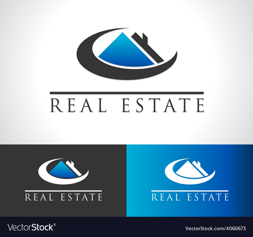 Real estate house logo icon vector | Price: 1 Credit (USD $1)