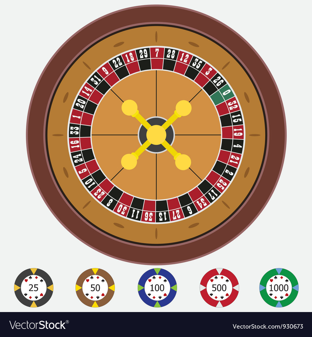Roulette with chips vector | Price: 1 Credit (USD $1)