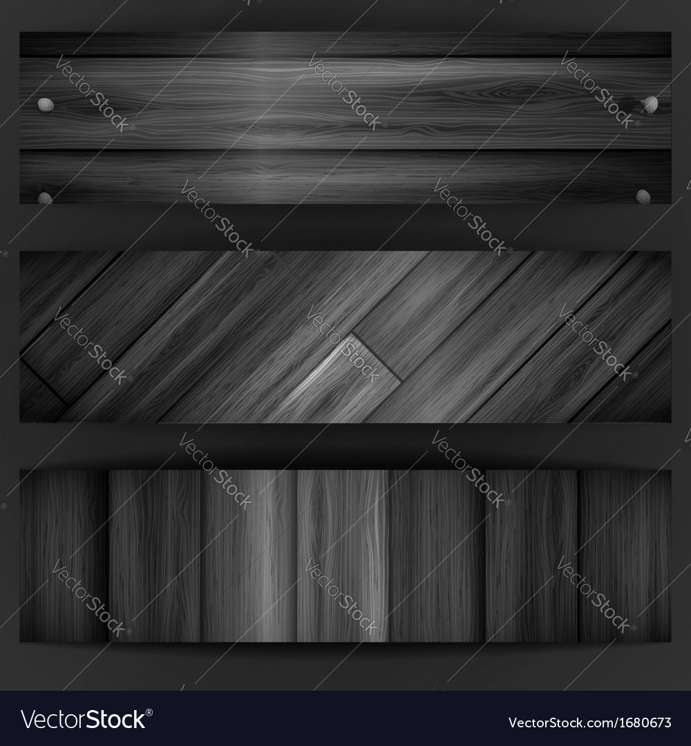 Wooden grey banner vector | Price: 1 Credit (USD $1)