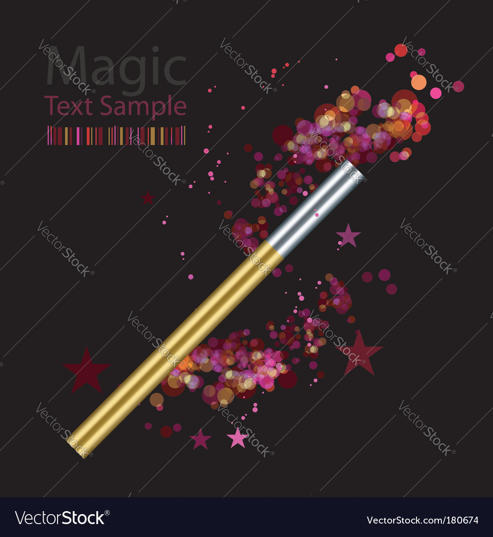 Beautiful magic background with wand vector | Price: 1 Credit (USD $1)