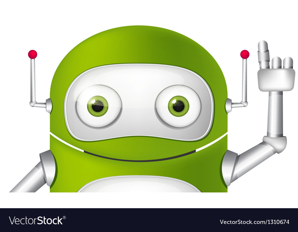 Cartoon character android vector | Price: 1 Credit (USD $1)