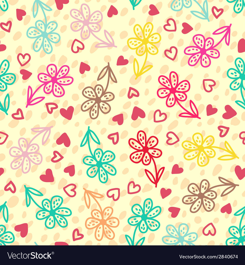 Colorful floral seamless pattern vector | Price: 1 Credit (USD $1)