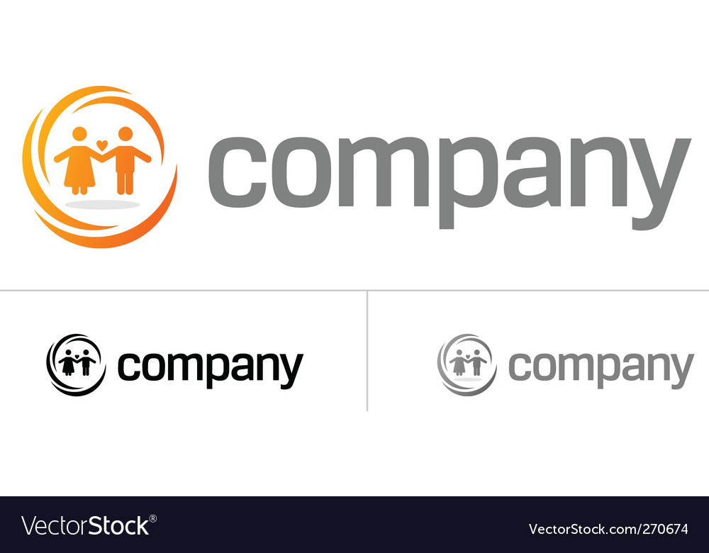 Couple logo for dating company vector | Price: 1 Credit (USD $1)