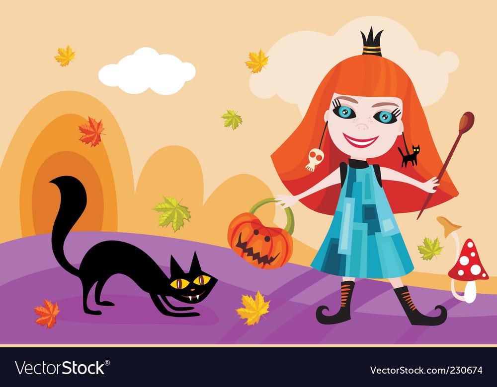 Halloween card vector | Price: 3 Credit (USD $3)