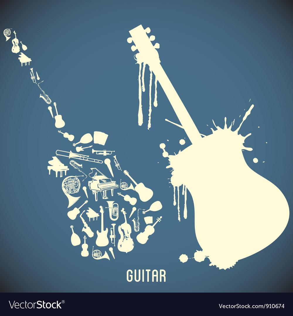 High contrast music instruments vector | Price: 1 Credit (USD $1)