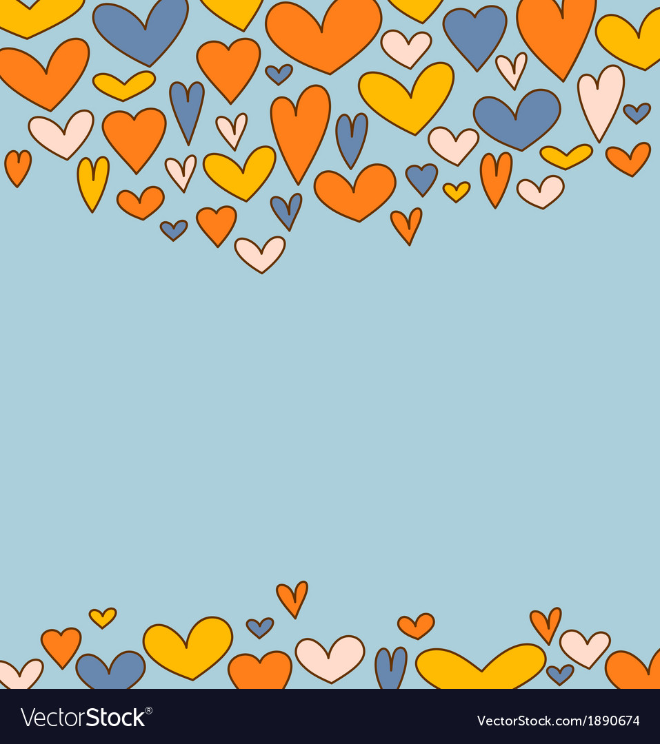 Holiday background with hearts for valentines day vector | Price: 1 Credit (USD $1)