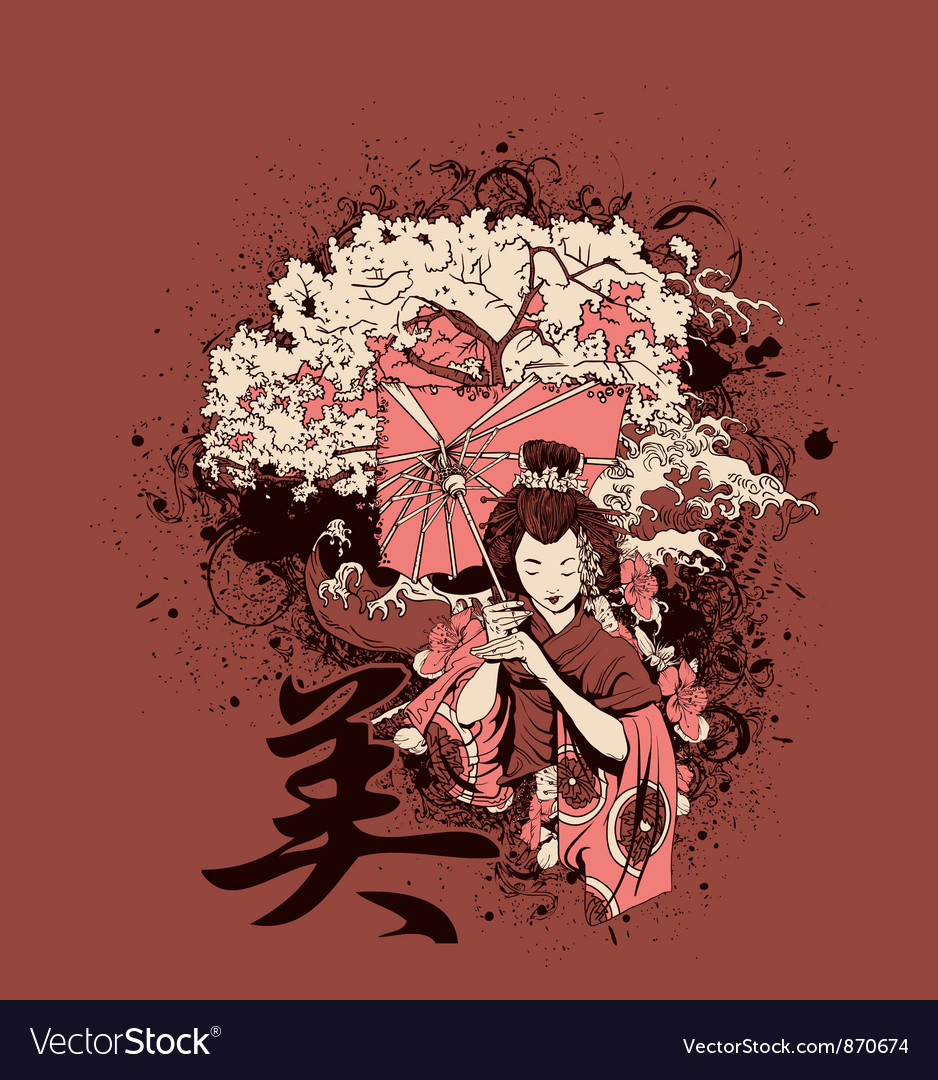 Japanese tshirt design vector | Price: 3 Credit (USD $3)
