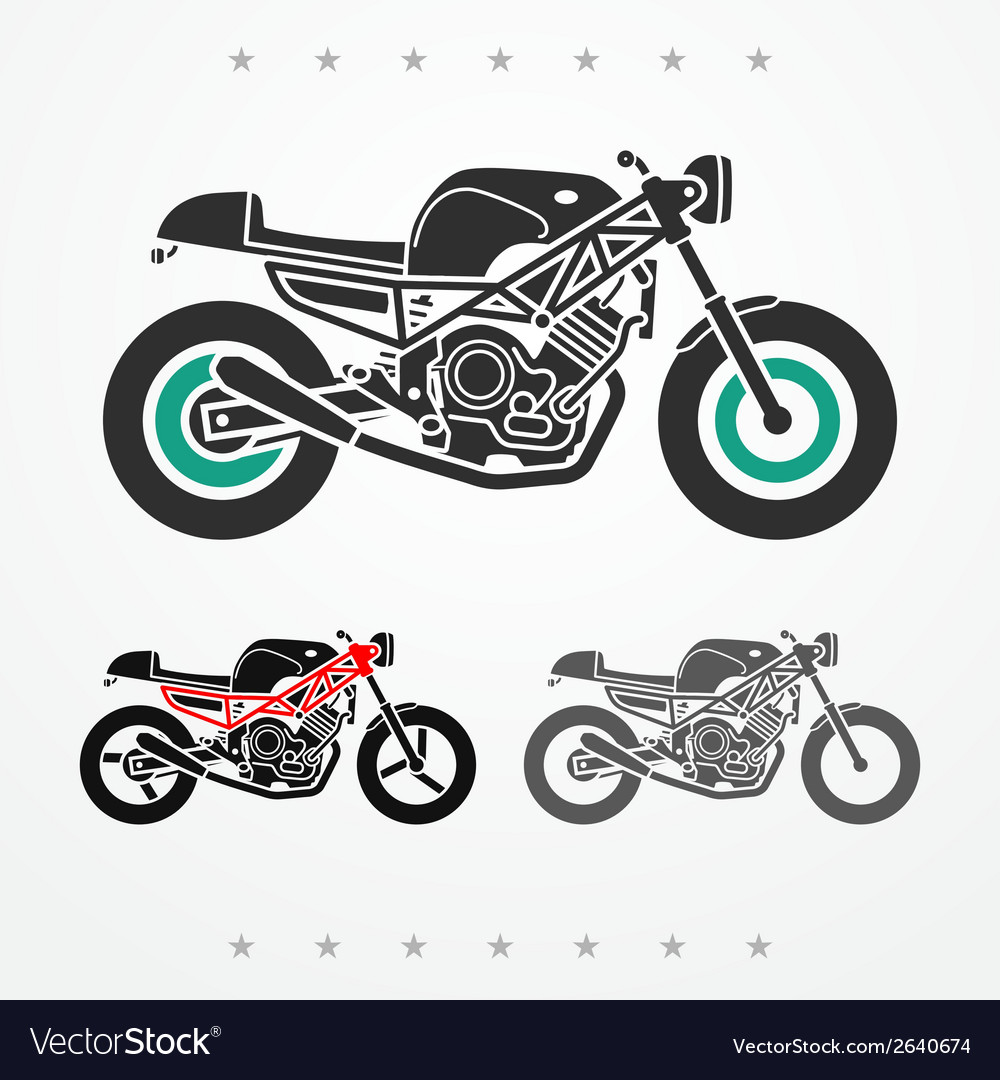 Modern road motorcycle vector | Price: 1 Credit (USD $1)