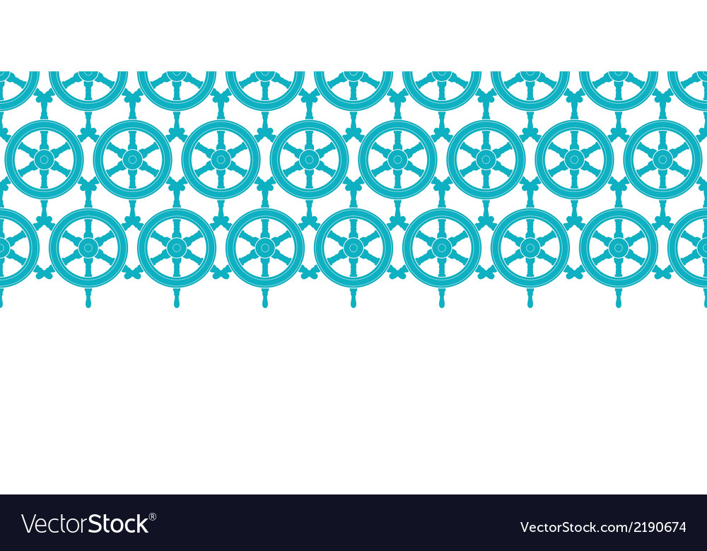 Nautical ship wheels abstract blue horizontal vector | Price: 1 Credit (USD $1)