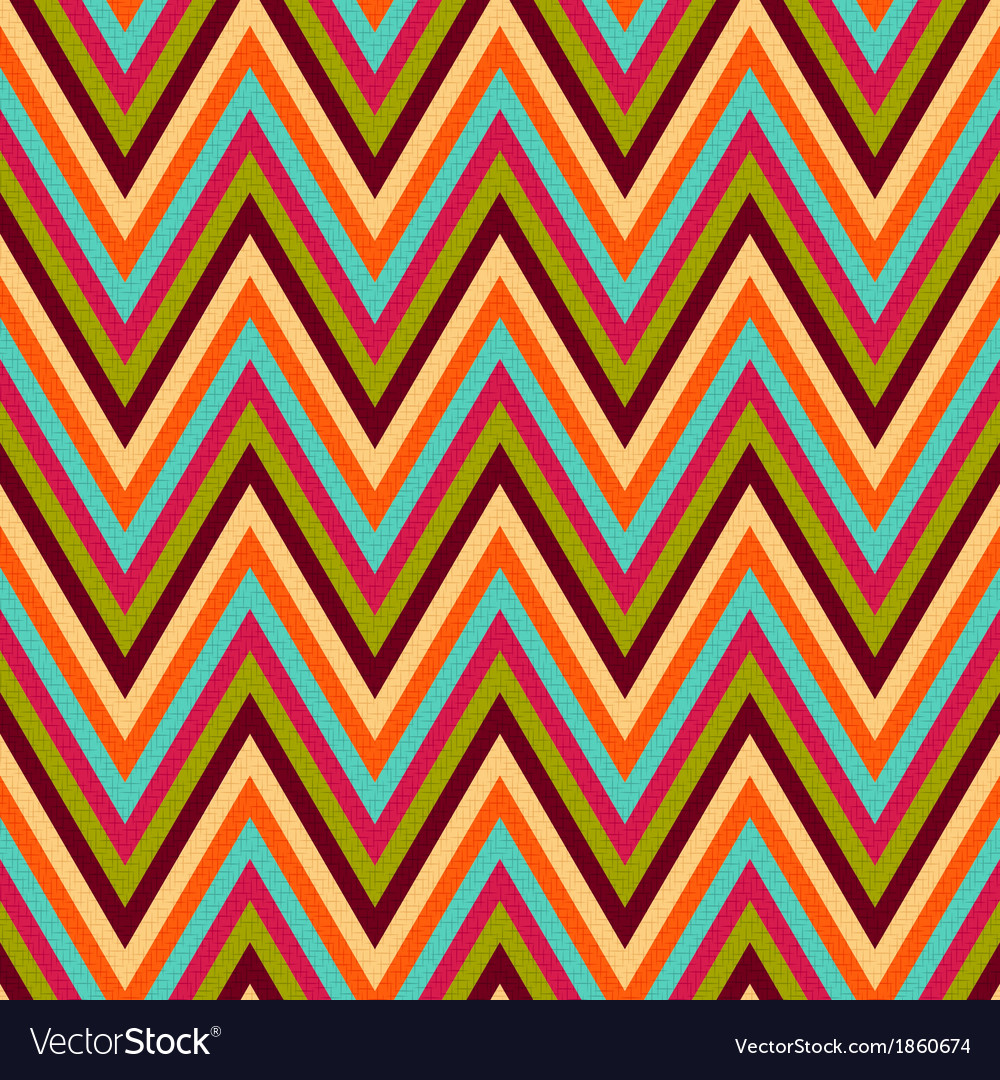 Seamless retro zig zag texture vector | Price: 1 Credit (USD $1)