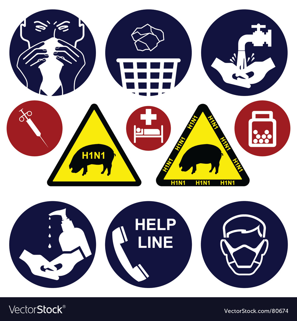 Swine flu collection vector | Price: 1 Credit (USD $1)