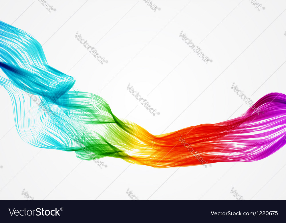 Abstract colorful smoke waves vector | Price: 1 Credit (USD $1)