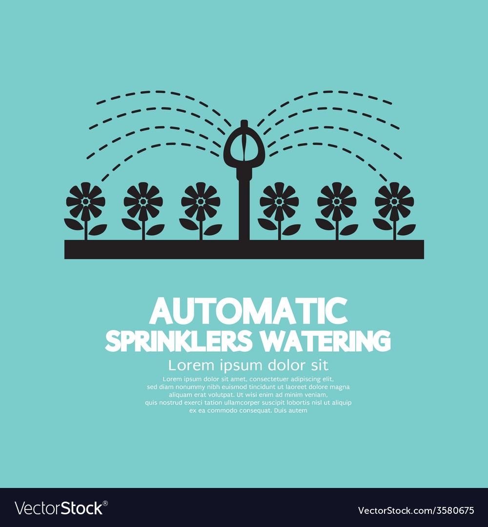 Automatic sprinklers watering vector | Price: 1 Credit (USD $1)