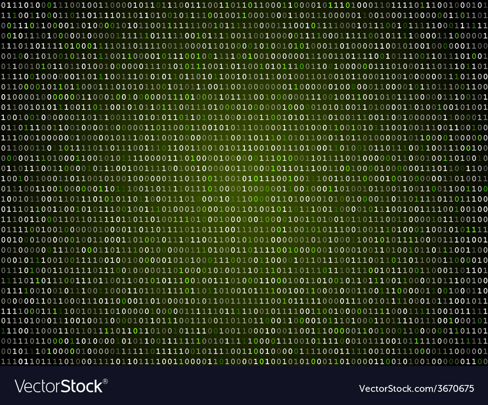 Binary computer code repeating background vector | Price: 1 Credit (USD $1)