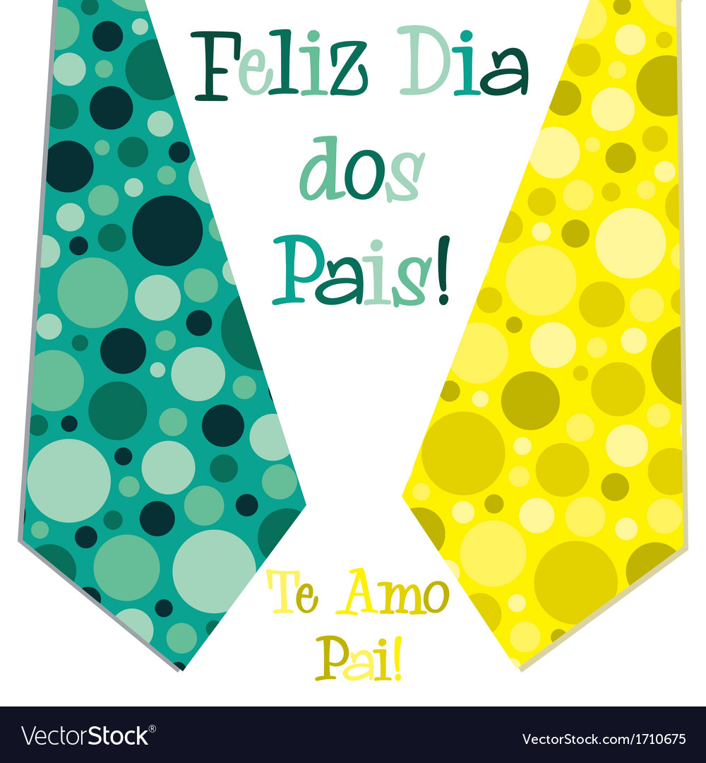 Bright bubble tie happy fathers day neck tie card vector | Price: 1 Credit (USD $1)