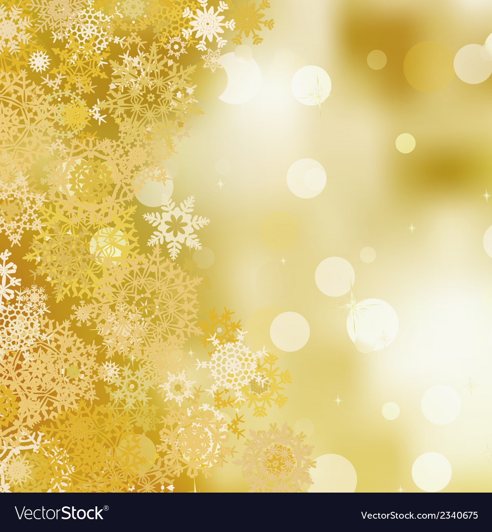 Golden christmas background eps 8 vector | Price: 1 Credit (USD $1)