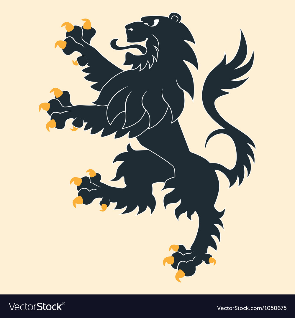 Heraldic lion 25 vector | Price: 1 Credit (USD $1)