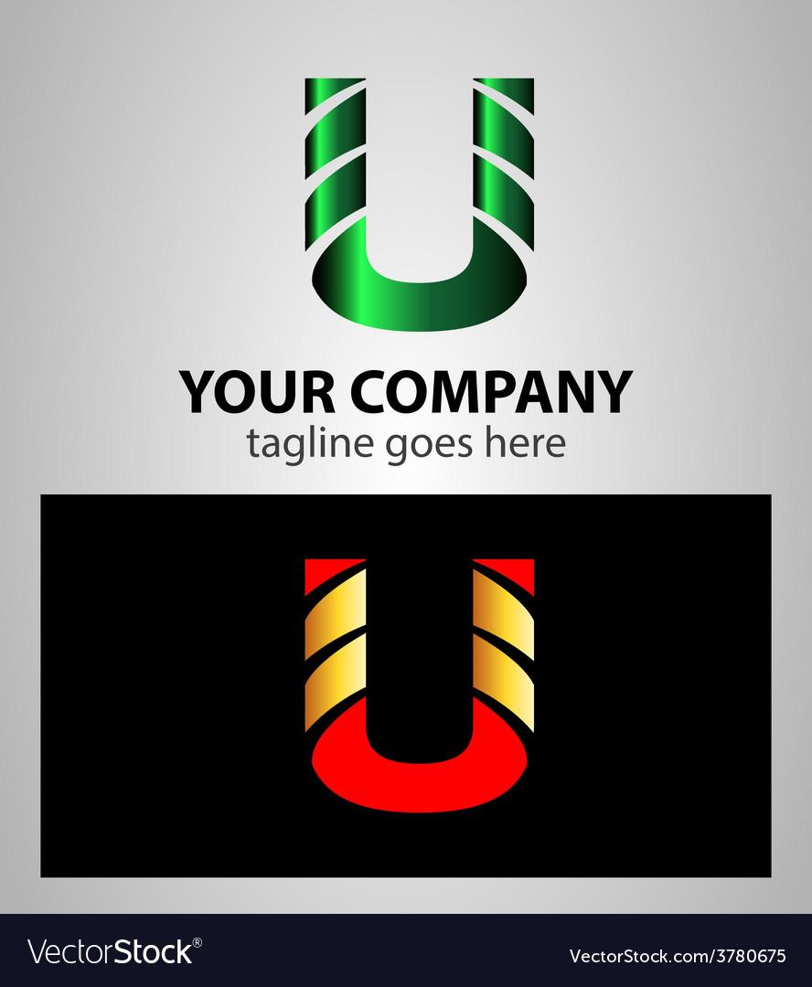Letter u logo symbol design template elements vector | Price: 1 Credit (USD $1)