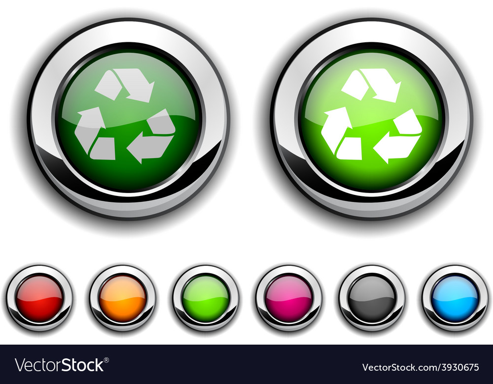 Recycle button vector | Price: 1 Credit (USD $1)