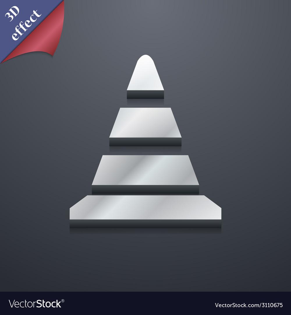 Road cone icon symbol 3d style trendy modern vector | Price: 1 Credit (USD $1)
