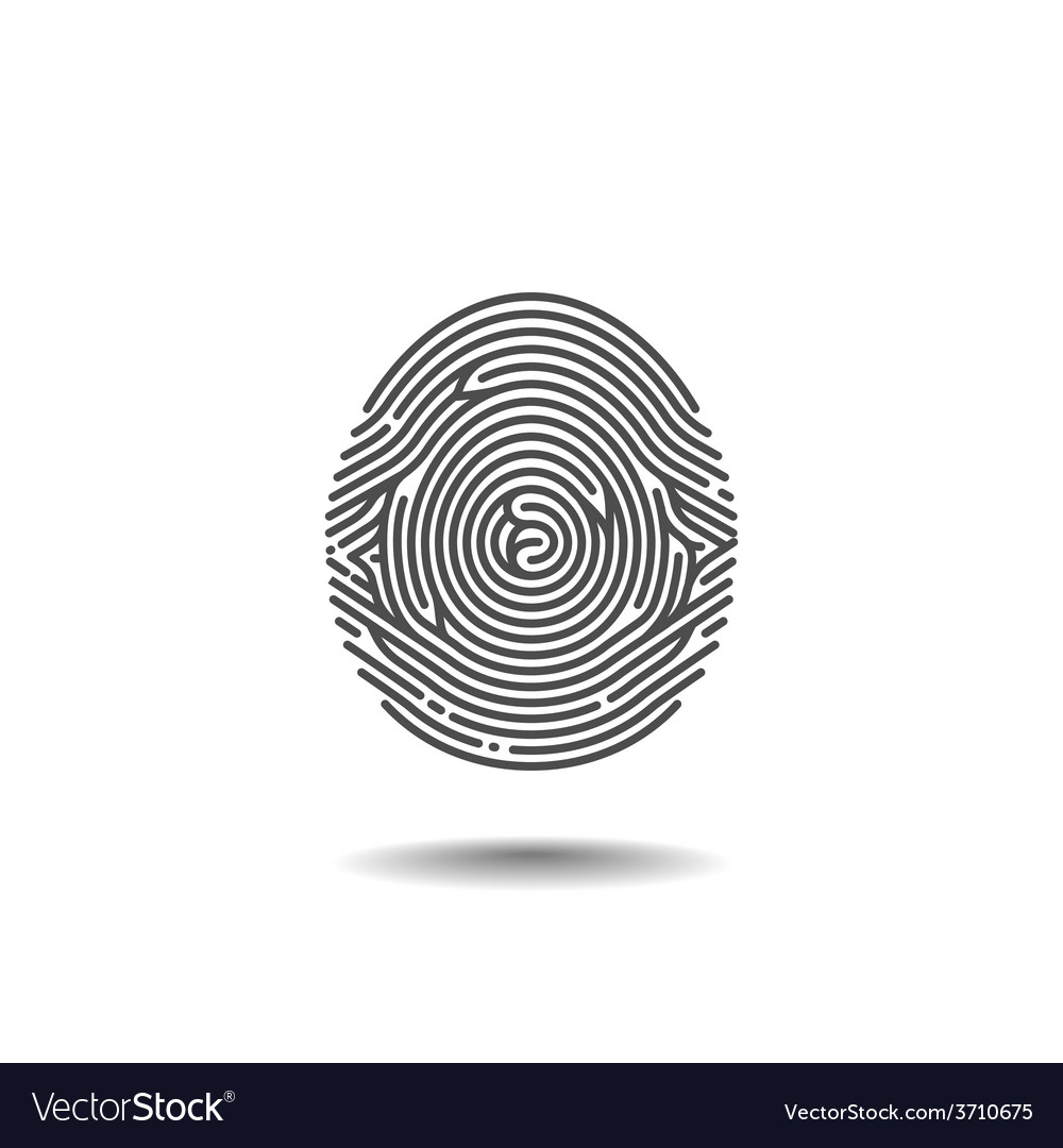 Stylized thumbprint on the white background vector | Price: 1 Credit (USD $1)
