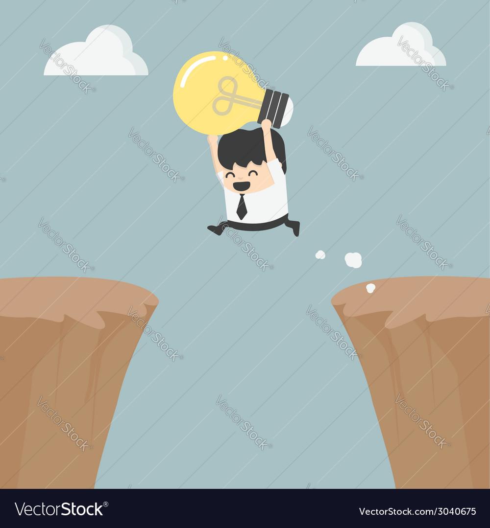 Successful businessman with an idea vector   Price: 1 Credit (USD $1)