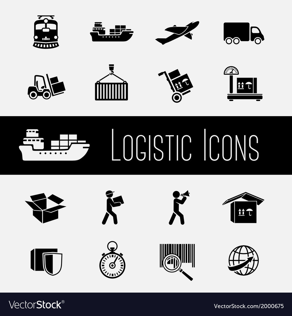 Supply chain icons set vector | Price: 1 Credit (USD $1)