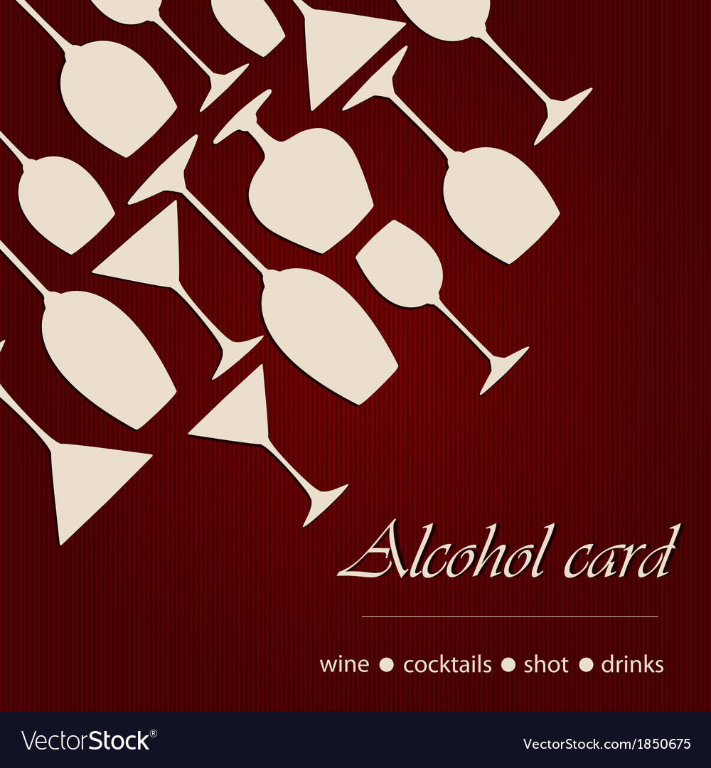Template of a alcohol card vector | Price: 1 Credit (USD $1)