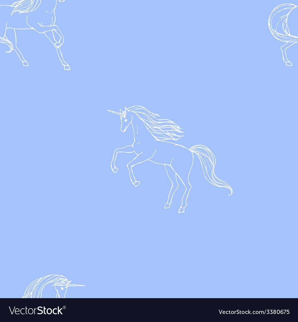 Unicorn seamless vector | Price: 1 Credit (USD $1)