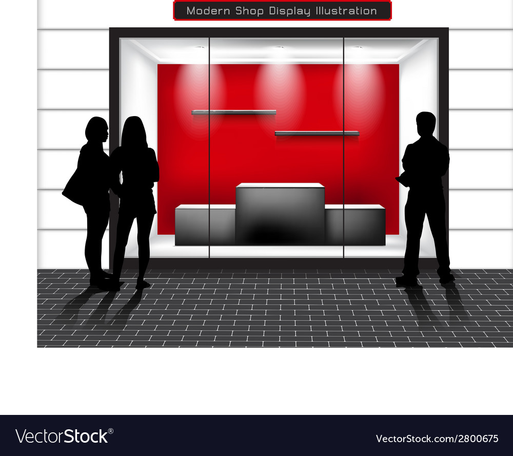 Window shop vector