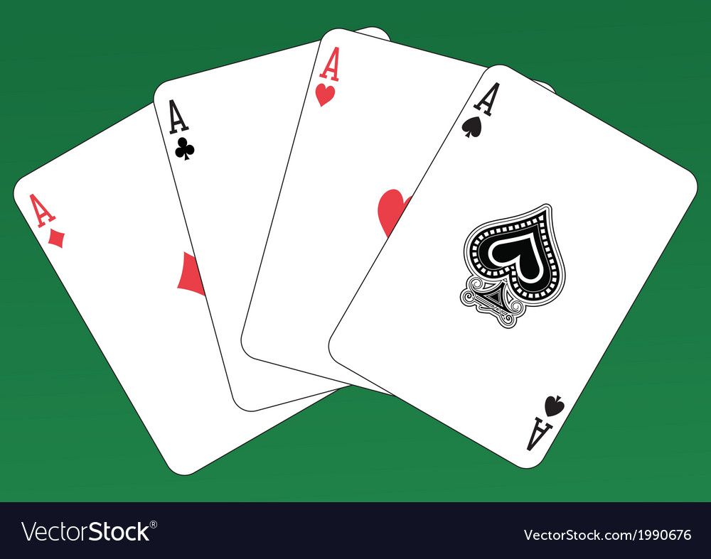 Aces poker vector | Price: 1 Credit (USD $1)
