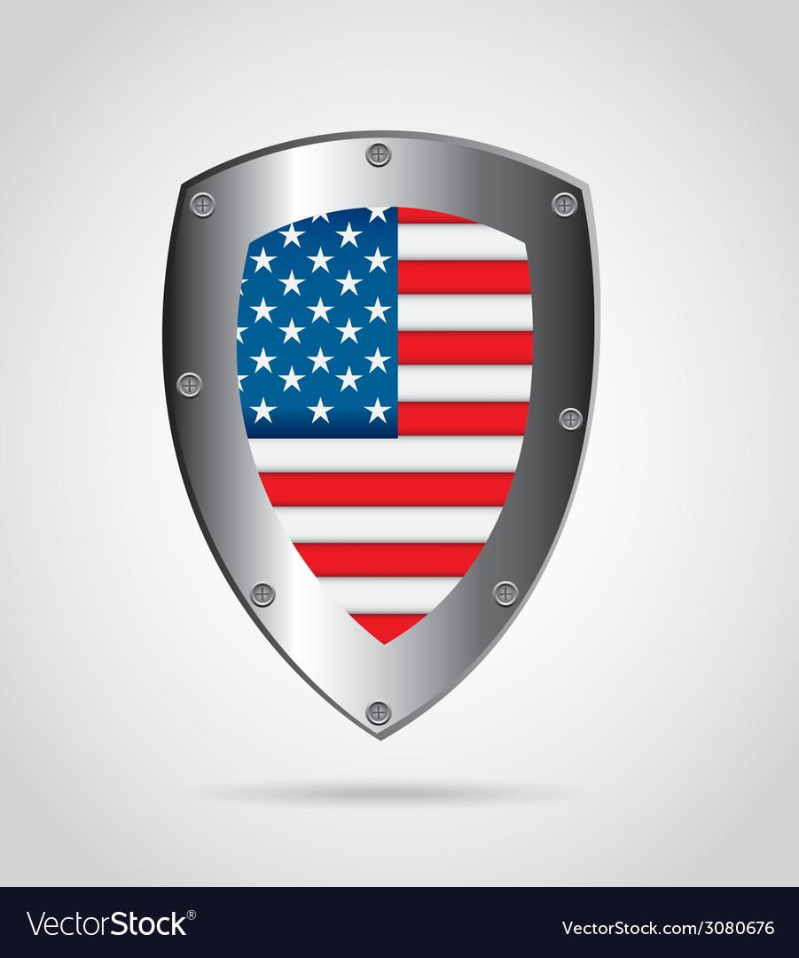 American shield design vector