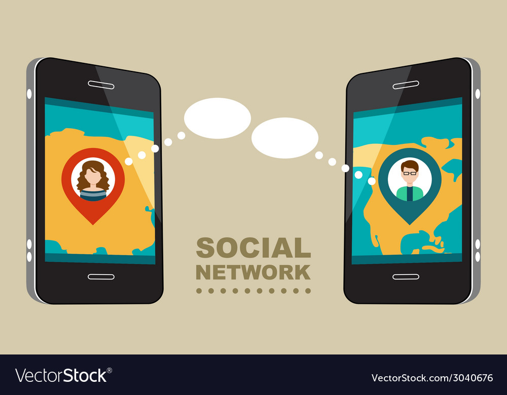 Concept for social network vector | Price: 1 Credit (USD $1)